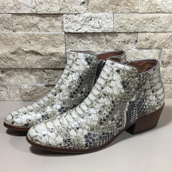 83e3b813a7b21b Sam Edelman Petty Leather Snake Print Ankle Boots.  M 5a60d9a42c705d8407354431